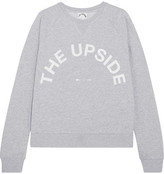 The Upside Printed Cotton-jersey Sweatshirt - Light gray