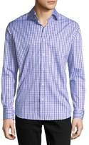 Neiman Marcus Long-Sleeve Check Sport Shirt
