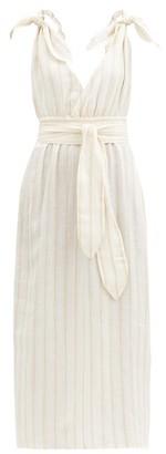 Mara Hoffman Calypso Striped Linen-blend Dress - Cream Stripe