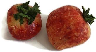 One Kings Lane Vintage Midcentury Alabaster Strawberries - Pr - Rose Victoria
