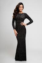 Terani Couture Embellished Bateau Neck Sheath Dress 1722E4203W