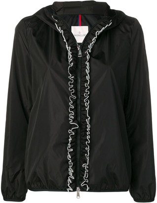 Moncler Ruffle Trim Hooded Jacket