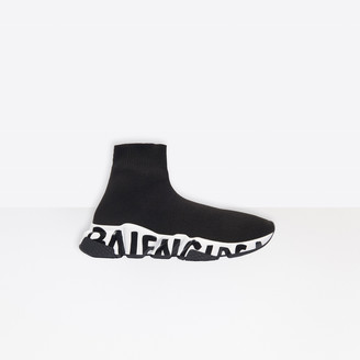 Balenciaga Speed Sneaker in black knit