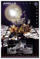 Eurographics Apollo Lunar Landings Print Poster