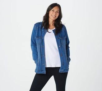Denim & Co. Comfy Knit Denim Jacket with Seaming Detail