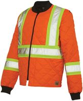 Men's Work King High Visibility Quilted Safety Jacket