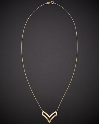Italian Gold 14K Double V Necklace