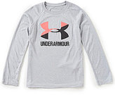 Under Armour Big Girls 7-16 Big Logo Long-Sleeve Tee