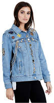 True Religion Womens Embelished Danni Denim Jacket