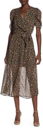 Bailey Blue Short Sleeved Ditsy Midi Dress