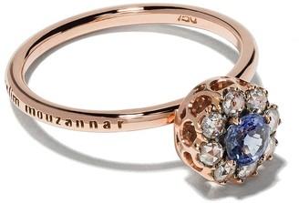 Selim Mouzannar 18kt rose gold diamond sapphire Beirut ring