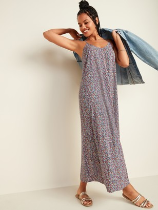 Old Navy Ditsy-Floral Sleeveless Maxi Shift Dress for Women