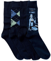Tommy Bahama Palm Argyle Socks - Pack of 4