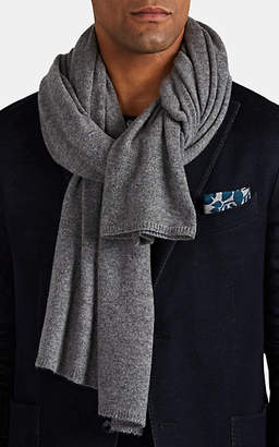 Barneys New York Men's Cashmere Scarf - Gray