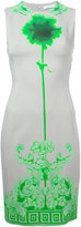 Versace neon print fitted dress - women - Cotton/Polyester/Spandex/Elastane/Viscose - 42