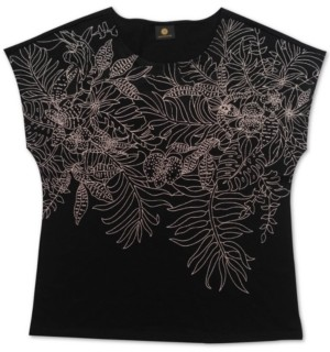 JM Collection Embroidered Top, Created for Macy's