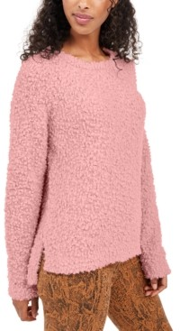Hippie Rose Juniors' Textured High-Low Sweater
