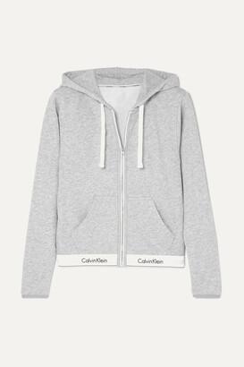 Calvin Klein Underwear - Cotton-blend Jersey Hoodie - Gray