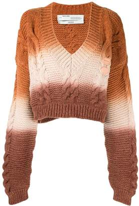 Off-White cable knit cropped jumper