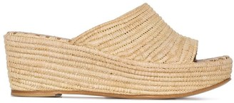 Carrie Forbes Karim 20 raffia wedge sandals