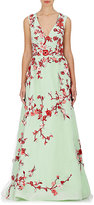 Monique Lhuillier Women's Embellished Gown-TURQUOISE