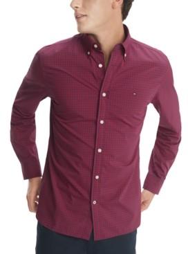 Tommy Hilfiger Men's Charles Custom-Fit Stretch Gingham Check Shirt
