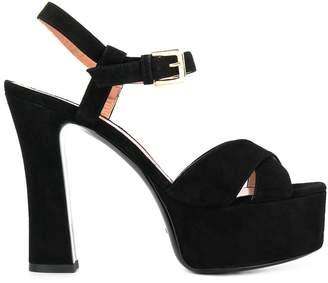 Pollini strappy platform sandals