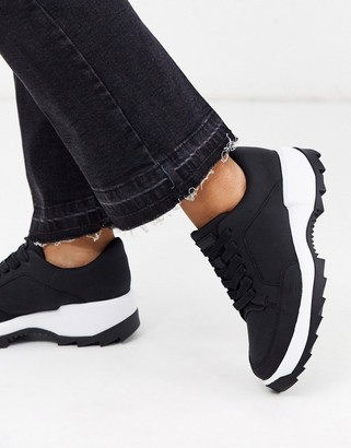 Camper Helix lace chunky sole trainers in black