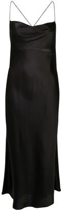 Mason by Michelle Mason cowl-neck bias midi dress