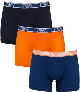 Emporio Armani Men's 3-Pack Stretch-Cotton Boxer Briefs