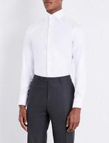 Canali Regular-fit herringbone cotton shirt