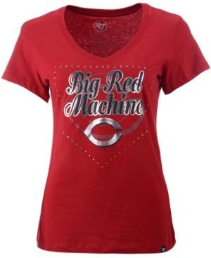 '47 Women's Cincinnati Reds Home Slogan Ultra Rival V-Neck T-Shirt