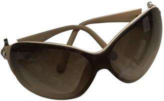 Chanel Beige Plastic Sunglasses