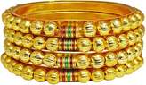 Ghoomar 18K Gold Plated Traditional Indian Bangle 4 Pcs Designer Jewelry Women Bracelets