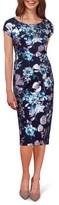 ECI Women's Floral Print Midi Dress