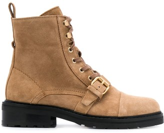 AllSaints Donita front-buckle ankle boots