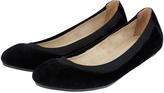 Accessorize Elasticated Suede Ballerina Flat Shoes