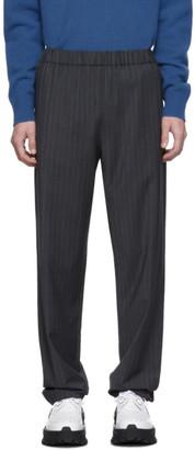 Tibi SSENSE Exclusive Grey Pinstripe Jogger Trousers