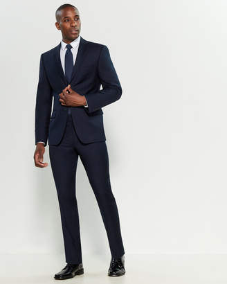 DKNY Two-Piece Navy Wool Suit
