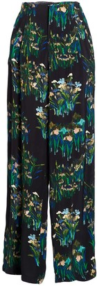 AILANTO Black Lilies Trousers