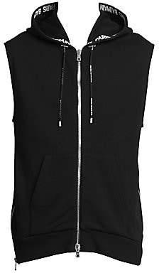Balmain Men's Hooded Side Zip Vest