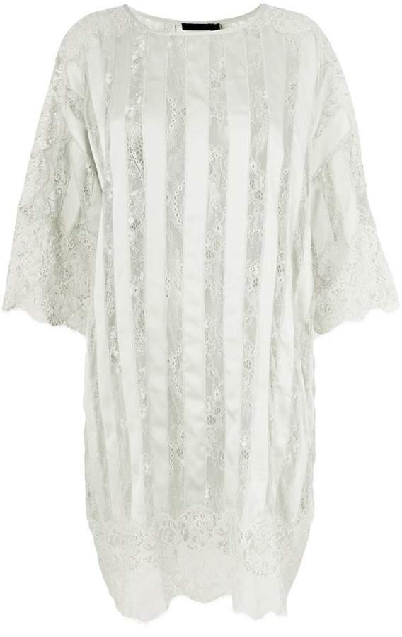 Amen stripe and lace oversized dress
