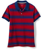 Classic Todder Boys Mesh Polo-Rich Cherry Stripe