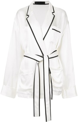 Haider Ackermann Satin Pyjama Shirt