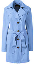 Lands' End Women's Petite Harbor Trench Coat-Meadowland Green