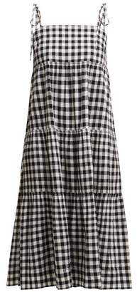 Belize - Sally Gingham Midi Dress - Womens - Black White