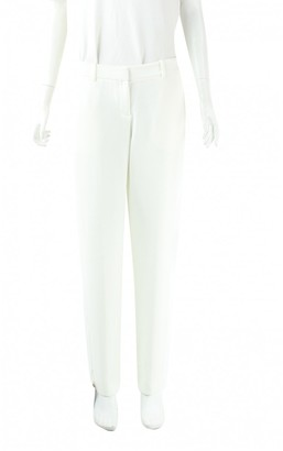 Theory White Synthetic Trousers