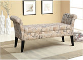 Asstd National Brand Baxton Studio Baxton Studio Avignon French Towers-Patterned Upholstered Storage Ottoman Bench