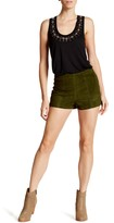 Haute Hippie Suede High Waisted Short