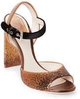 Christian Dior Shade Sequin Block Heel Sandals